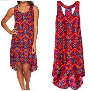 Kavu Jocelyn Jewel Ikat Racerback Dress Size M